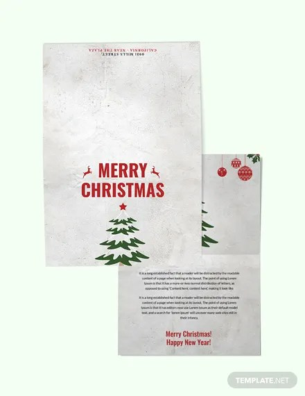 FREE Modern Christmas Thank You Card Template Download 1251+ Cards