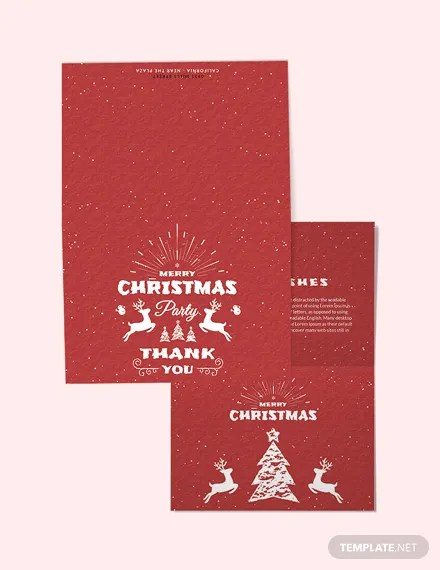 FREE Retro Christmas Thank You Card Template Download 1245+ Cards