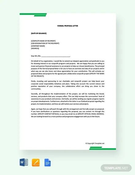 FREE Formal Proposal Letter Template Download 1994+ Letters in Word