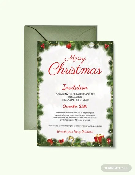 30+ FREE Publisher Christmas Invitation Templates Download Ready