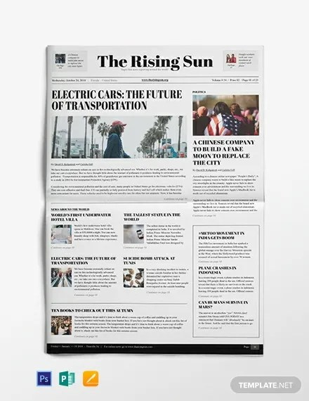 Political Newspaper Template Download 11+ Newspaper Templates in