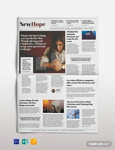 Religious Newspaper Template Download 2+ Newspaper Templates in