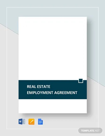 Real Estate Employment Agreement Template Download 210+ Agreements