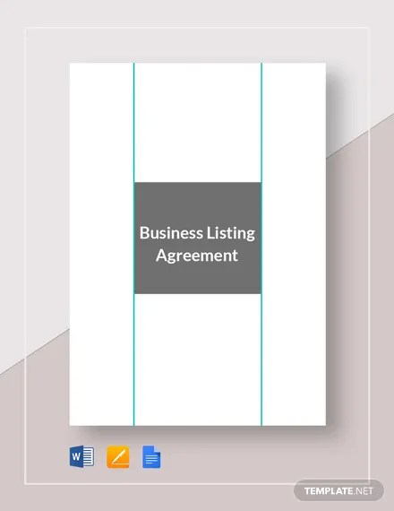Business Listing Agreement Template Download 234+ Agreements in