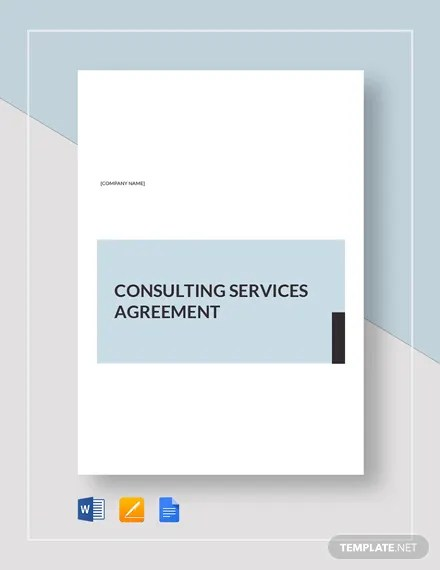 Consulting Services Agreement Sample Template Download 232+