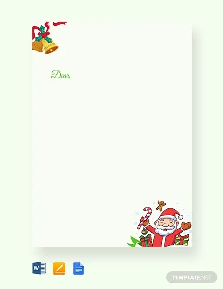 FREE Christmas Letter Template Download 1251+ Cards in Microsoft
