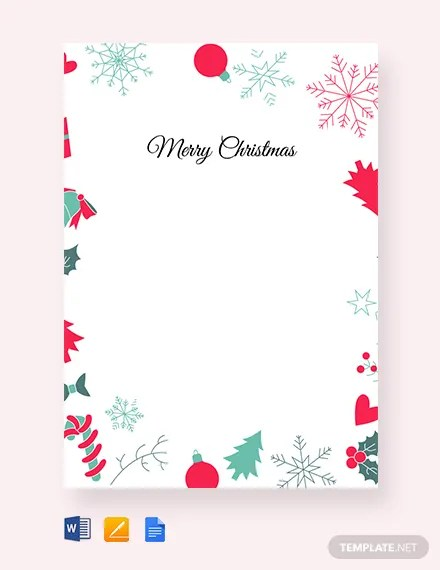FREE Christmas Border Letter Template Download 1251+ Cards in