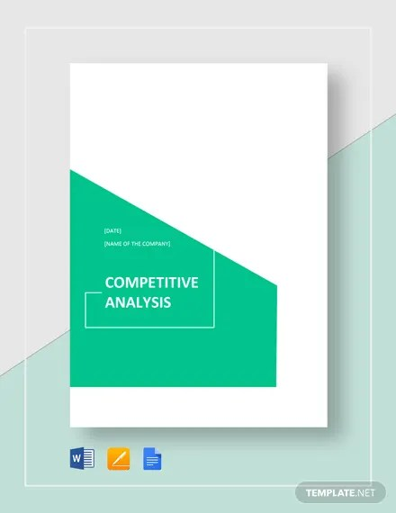 Competitive Analysis Template Download 190+ Analysis Templates in