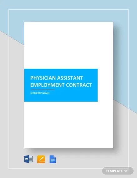 Physician Assistant Employment Contract Template  Download 226+