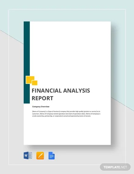 Financial Analysis Report Template  Download 246+ Reports in