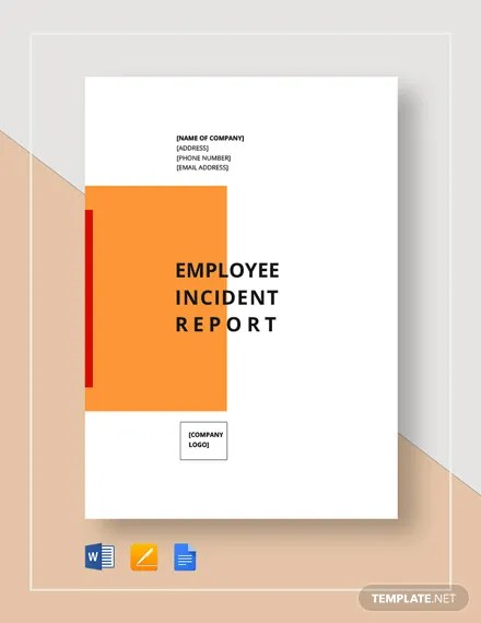 Employee Incident Report Template Download 310+ Reports in
