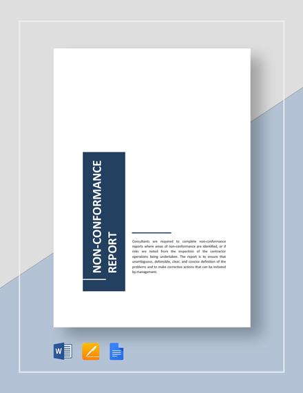 Non-Conformance Report Template  Download 223+ Reports in Microsoft