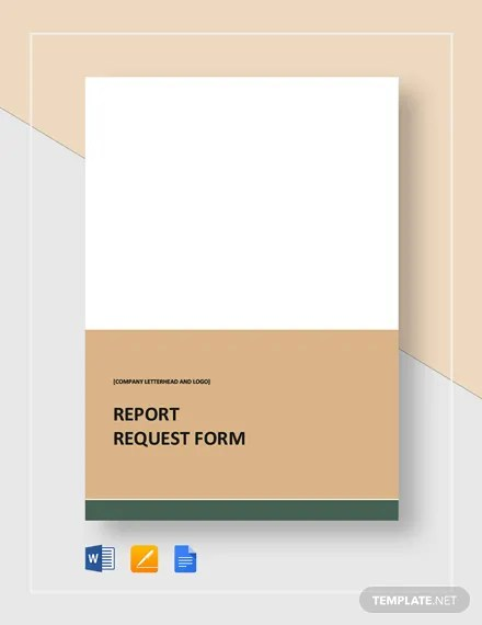 Report Request Form Template in Microsoft Word, Apple Pages, Google