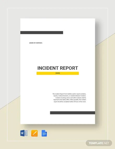Incident Report Template Download 134+ Reports in Microsoft Word