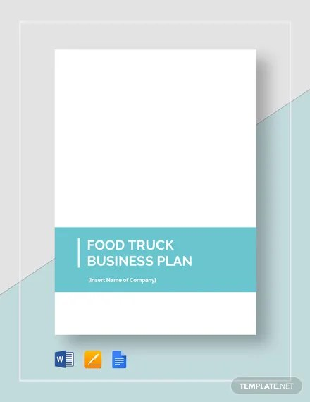 Food Truck Business Plan Template Download 139+ Plans in Microsoft