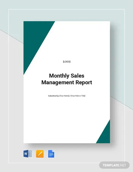 41+ Monthly Management Report Templates - PDF, Google Docs, Excel