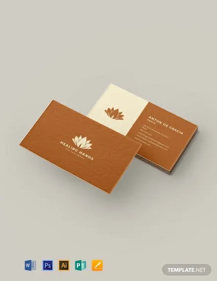 Massage Therapy Business Card Template  Download 175+ Business