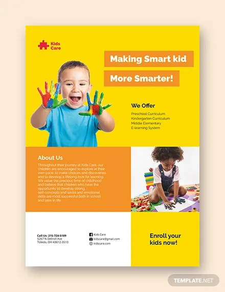 21+ Beautiful Day-Care Flyer Templates - PSD, Word, AI, EPS Vector