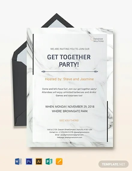 Get Together Invitation Template Download 227+ Invitations in