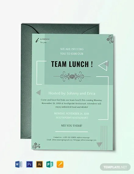 11+ FREE Invitation Lunch Templates Download Ready-Made Templatenet