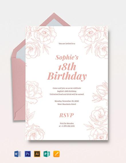 18th Birthday Invitation Template Download 227+ Invitations in