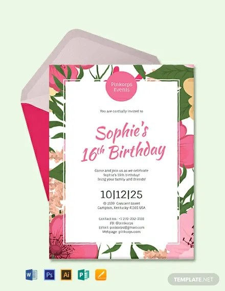 66+ FREE Birthday Invitation Templates Download Ready-Made