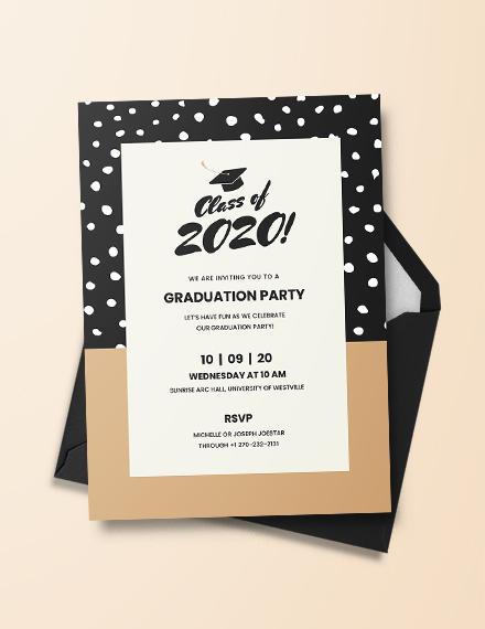 Graduation Invitation Template in Adobe Illustrator, Photoshop
