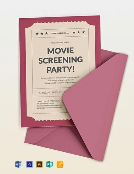 Movie Ticket Invitation Template Download 227+ Invitations in