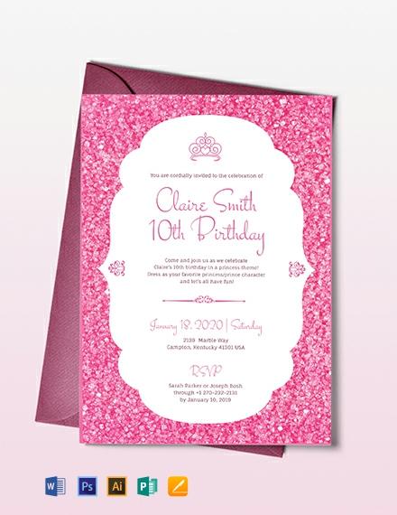 Princess party Invitation Template Download 227+ Invitations in