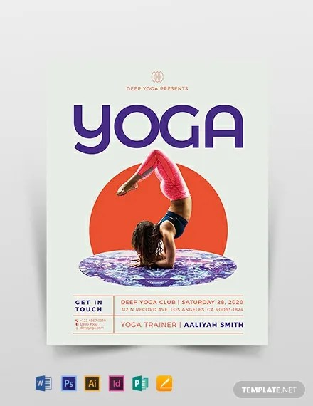 Yoga Flyer Template Download 306+ Flyers in Microsoft Word