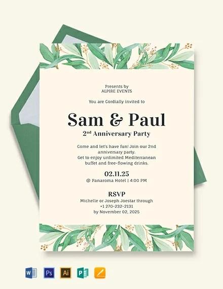 Anniversary Invitation Template Download 227+ Invitations in