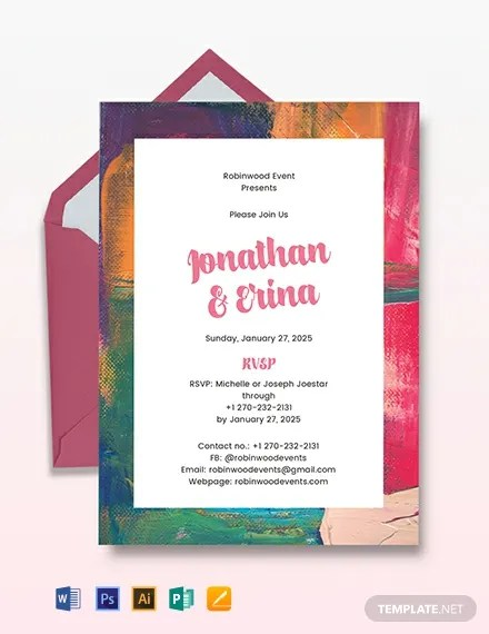 Art Deco Wedding Invitation Template Download 227+ Invitations in