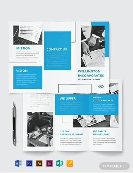 Annual Report Tri-Fold Brochure Template Download 261+ Brochures in