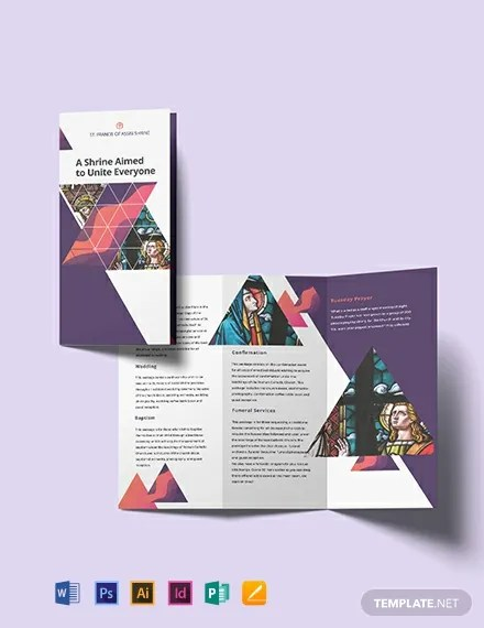 Church Tri-Fold Brochure Template Download 259+ Brochures in