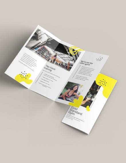 Fitness Tri-Fold Brochure Template Download 261+ Brochure Templates
