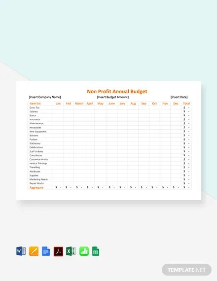 8+ Non Profit Budget Templates - Word, PDF, Excel Free  Premium