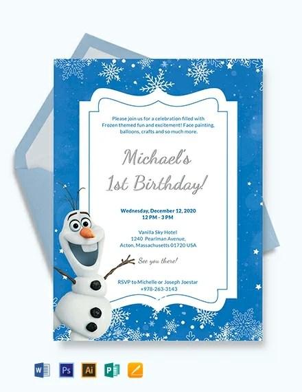 Frozen Birthday Invitation Template Download 227+ Invitations in
