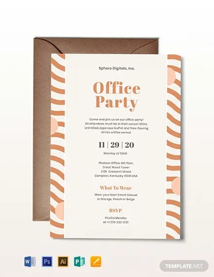 Office Party Invitation Template Download 227+ Invitations in
