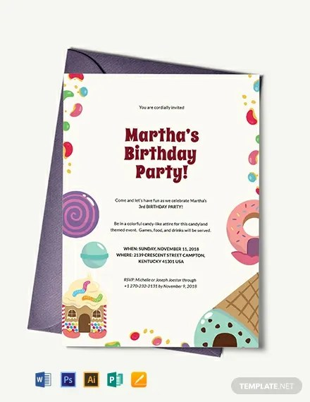 Candyland Birthday Invitation Template Download 227+ Invitations in