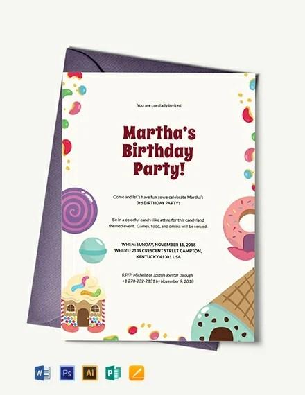 66+ FREE Birthday Invitation Templates Download Ready-Made