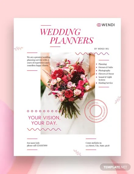 29+ Wedding Flyer Templates \u2013 PSD, Word, EPS Vector Formats Free