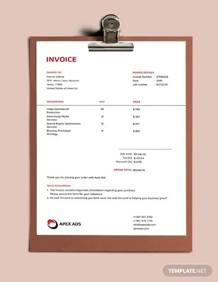 Advertising Consultant Invoice Template Download 74+ invoice in