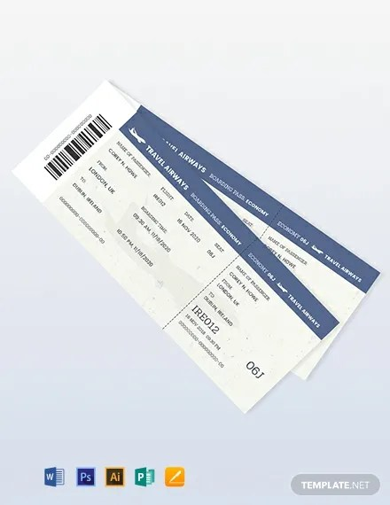 376+ FREE Ticket Templates Download Ready-Made Samples Templatenet