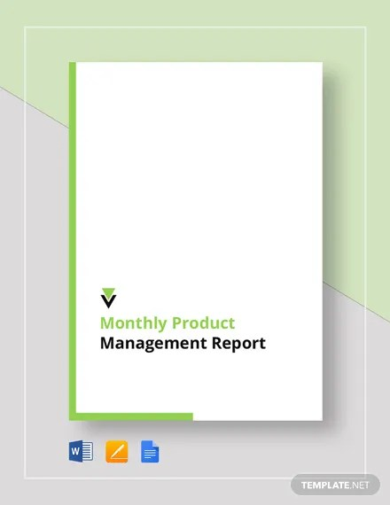 Monthly Product Management Report Template  Download 161+ Reports