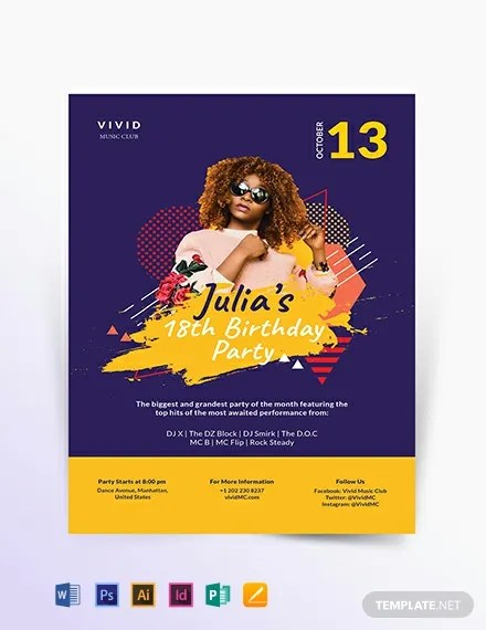 46+ FREE Party Flyer Templates Download Ready-Made Templatenet