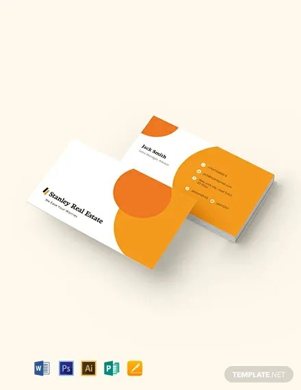 Modern Real Estate Business Card Template Download 175+ Business