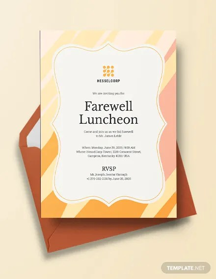 38+ Lunch Invitation Templates - PSD, AI, Word Free  Premium