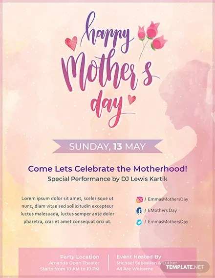 21+ Beautiful Mother\u0027s Day Flyer Templates - PSD, Word, AI, EPS