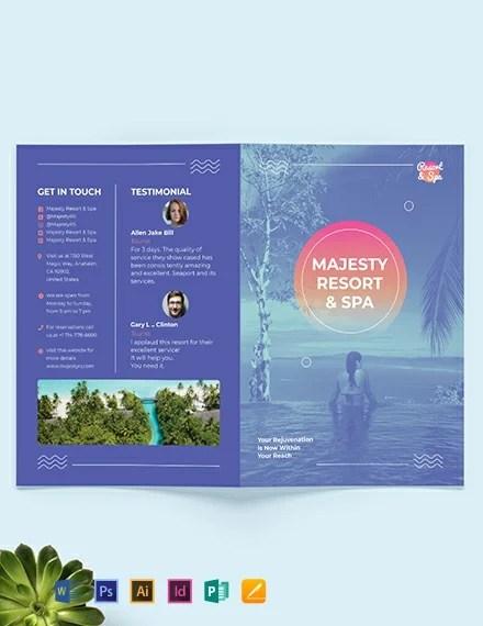 Spa Resort Bi-Fold Brochure Template Download 259+ Brochures in