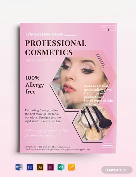 Professional Cosmetics Flyer Template Download 318+ Flyers in
